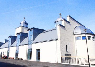 Nybyggnad av kyrka Västra Frölunda