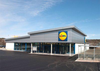 Nybyggnad av butiker, Lidl Sverige